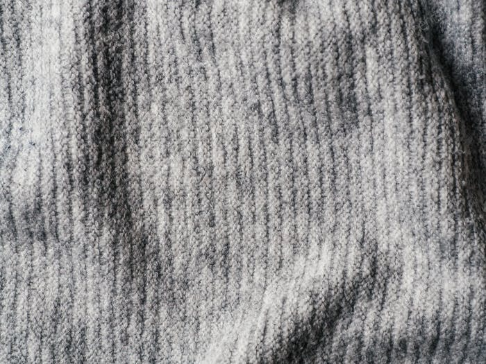 Gray sweater fabric texture