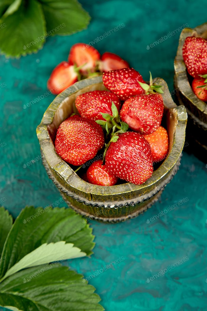 Strawberry in the bowls