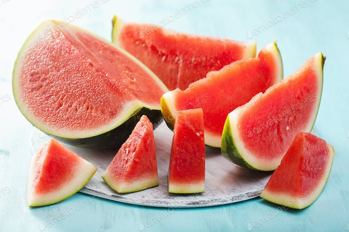 red watermelon slices, summer fruit