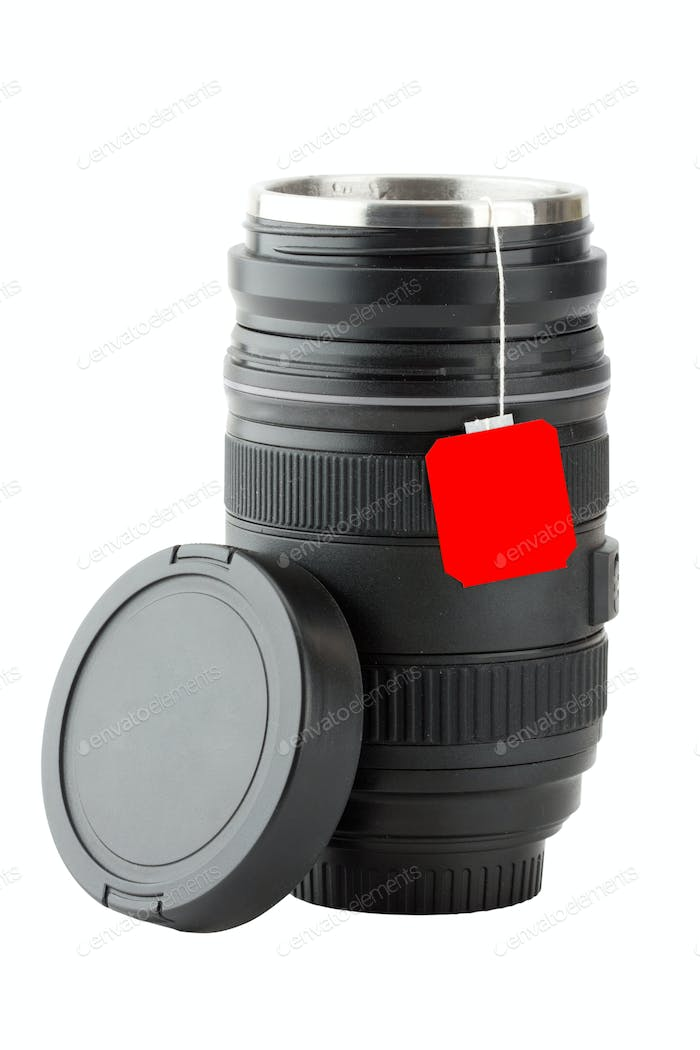 Mug made from professional photographic lens