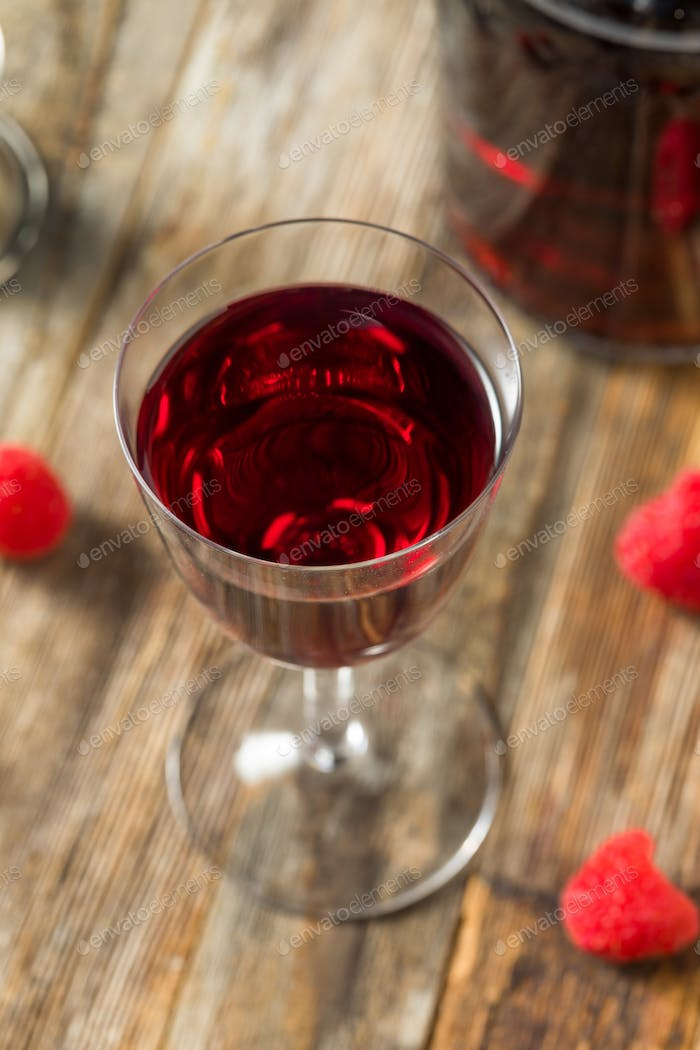 Red Organic Raspberry Liqueur