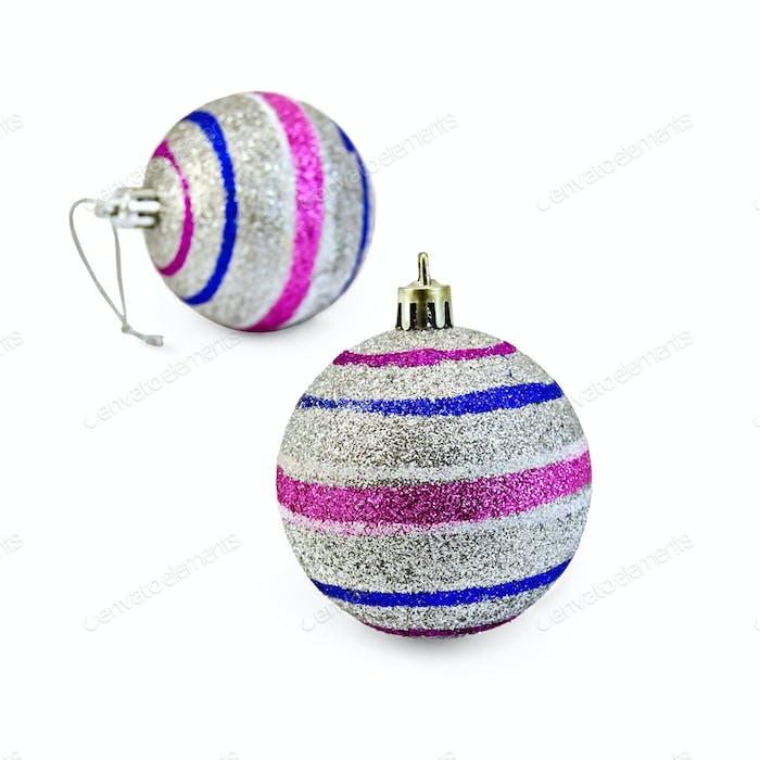 Christmas balls striped