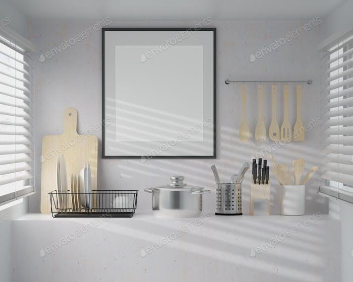 Kitchen with a wide range of kitchen appliances