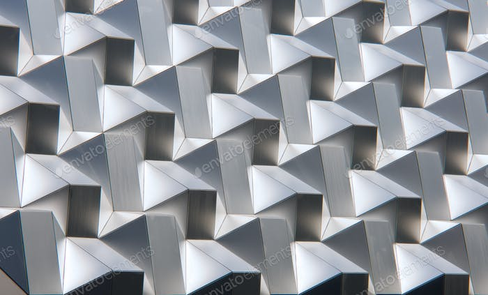 Modern silver facade