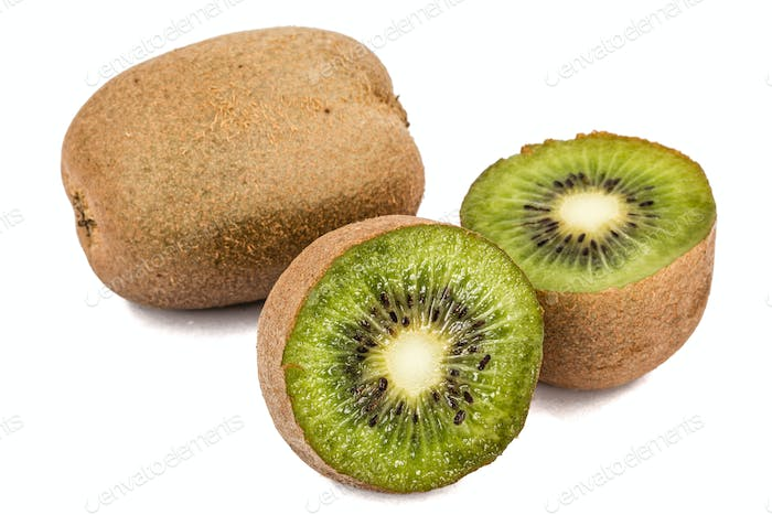 Juicy kiwi fruit, isolated on white background
