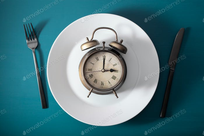 concept of intermittent fasting, ketogenic diet, weight loss