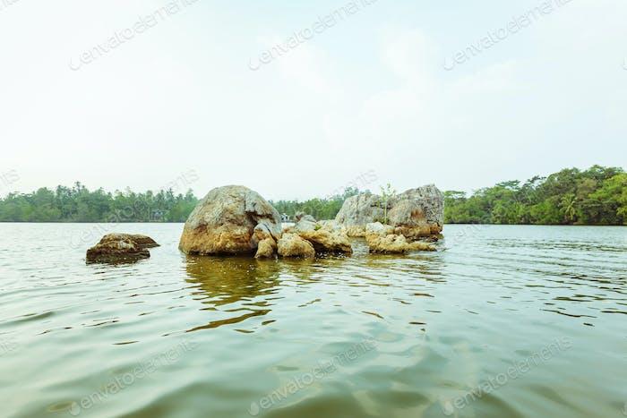Beautiful view of Lake Koggala