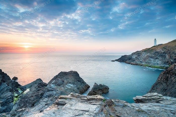 Sunset at Trevose Had in Cornwall