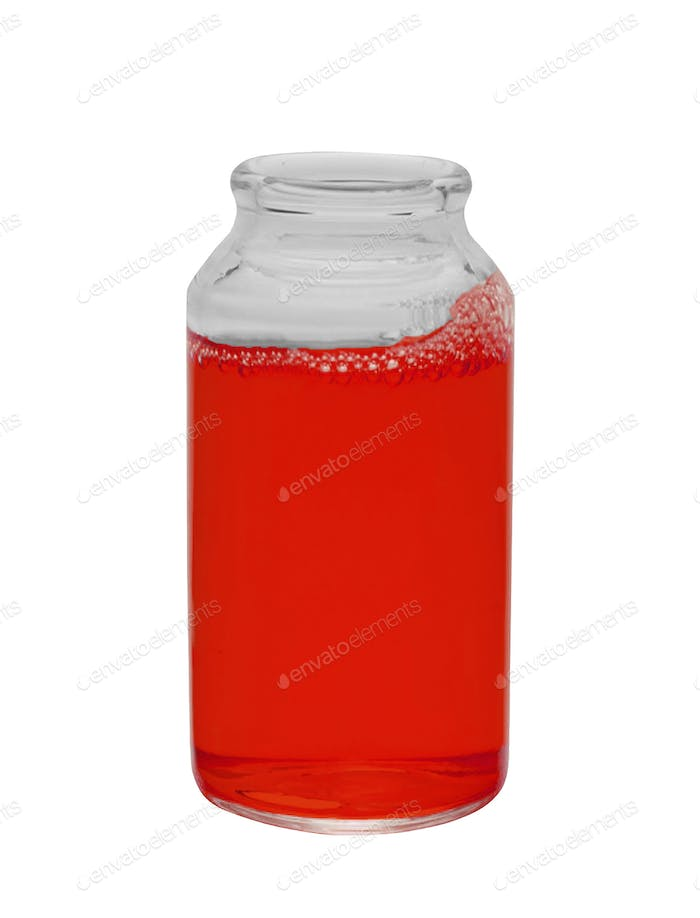 Small bottle of juice isolated