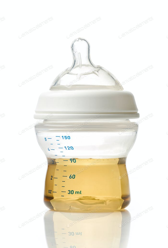 Juice in baby bottle