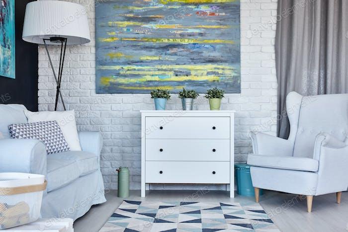 Pastell-Wohnzimmer