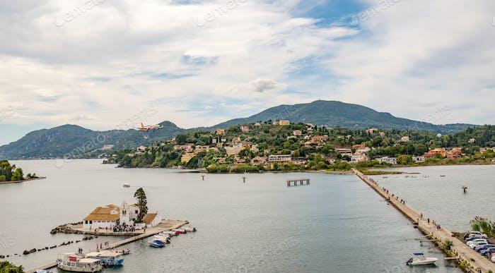 Vlacherna monastery on Corfu island