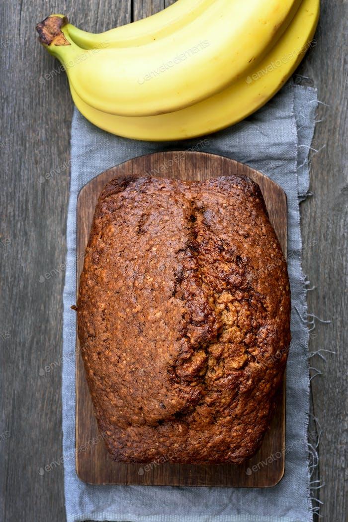 Fruit banana bread loaf