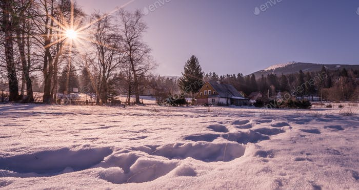 Winter landscape in Szklarska Poreba