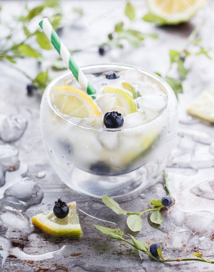 Detox water .Vitamin drink for immunity against the virus.