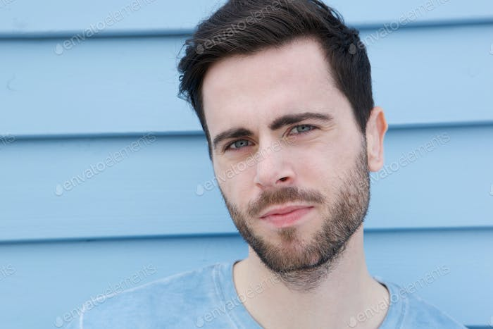 Cool guy with beard staring