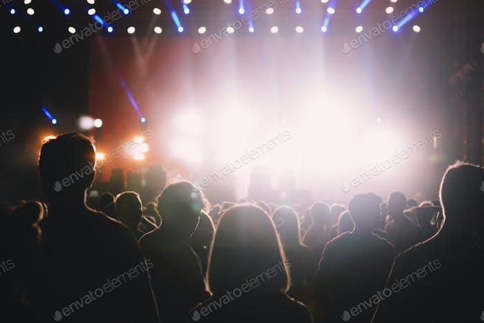 Crowd at concert enjoying performances