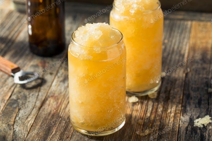 Homemade Frozen Beer Slushie