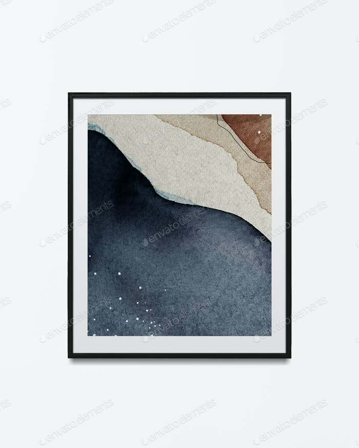 Watercolor frame in a frame psd