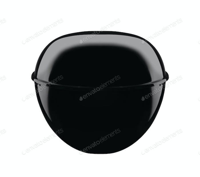 A picture of a new black barbecue isolated on white