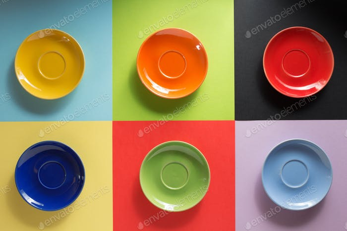 empty plate at abstract background