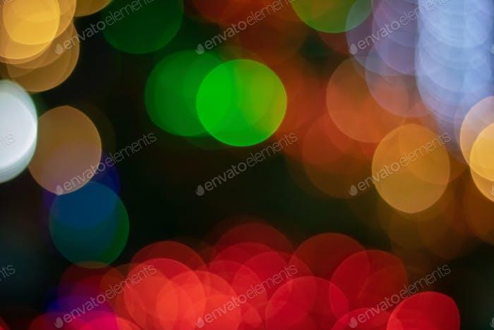 Colorful bokeh of night light