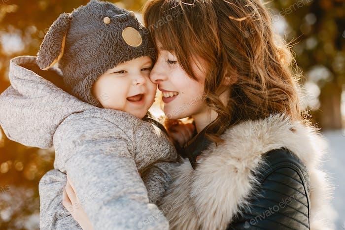 Mutter mit Sohn