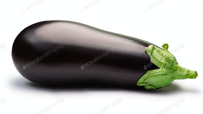 Eggplant or aubergine, whole, paths