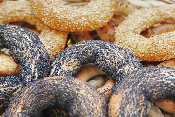 Köstliche frische Bagels
