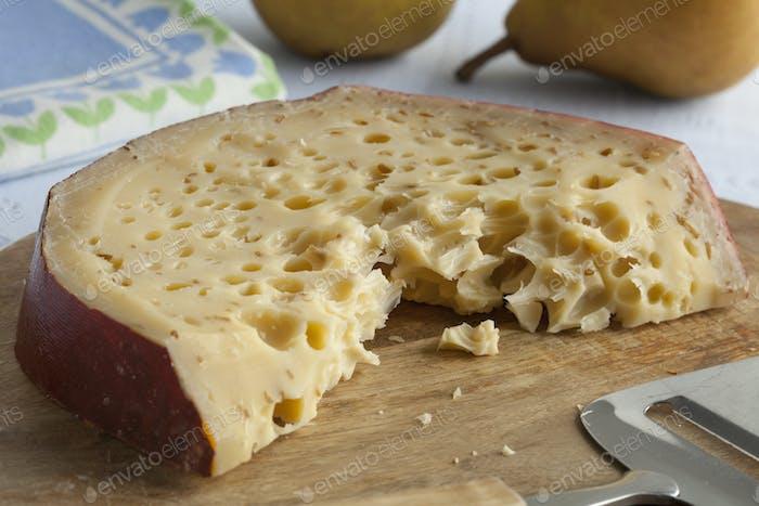 Piece of Leiden cumin cheese