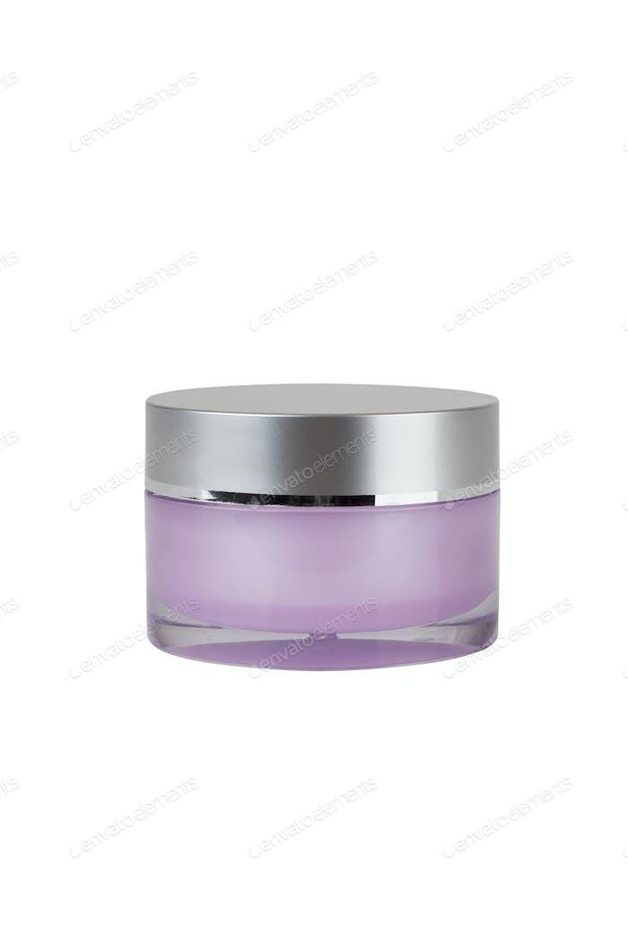 Nahaufnahme von Beauty-Hygiene-Behälter auf weißem Hintergrund mit Clipping-Pfad