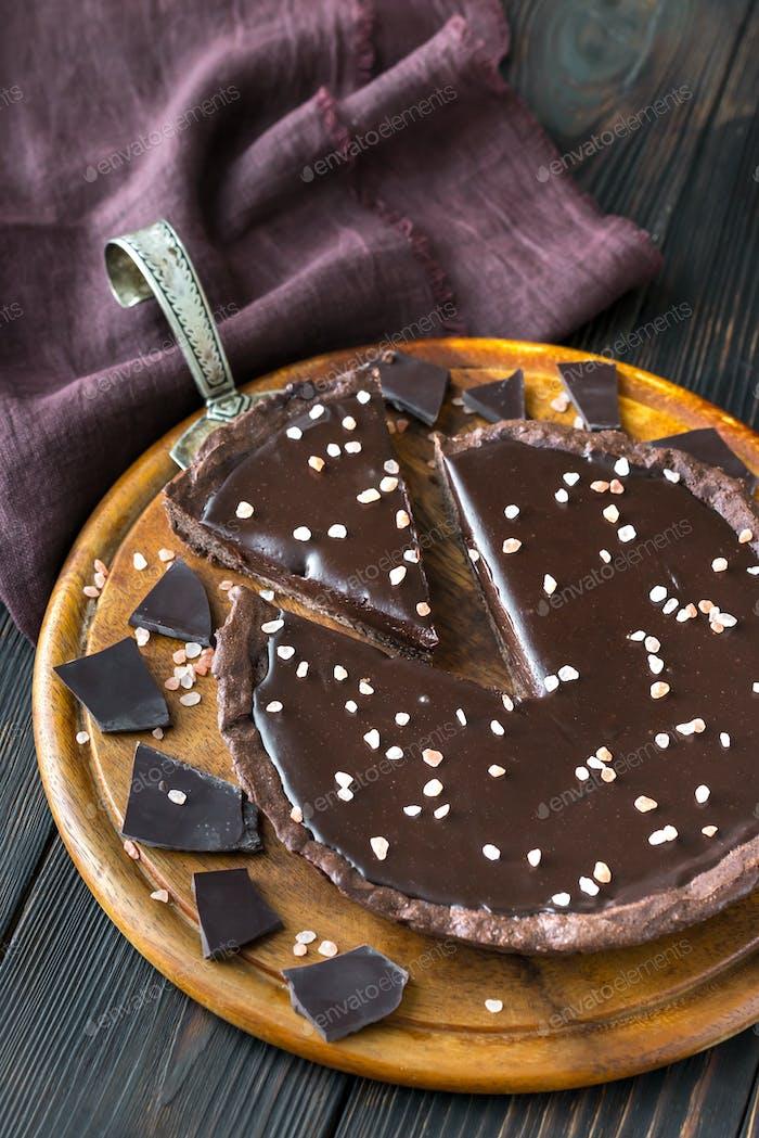 Chocolate salted tart