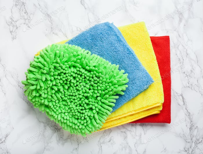cleaning household colorful microfiber cloth