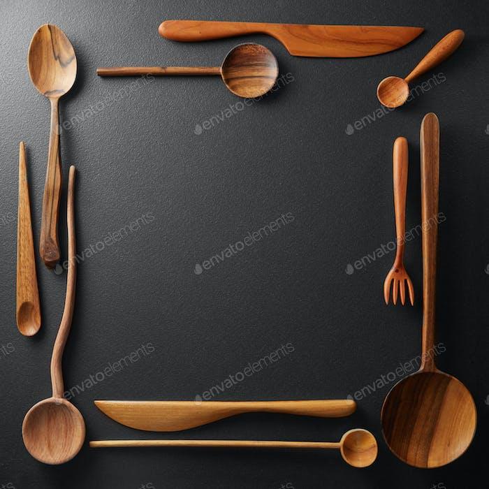 Rahmen aus Holz Küchenhelfer