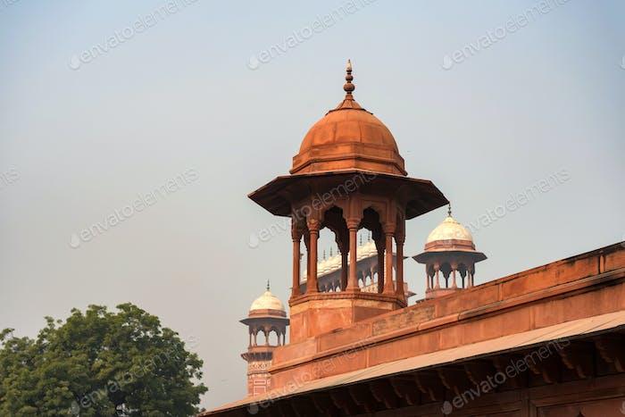 View of chantri in Taj Mahal in Agra, India