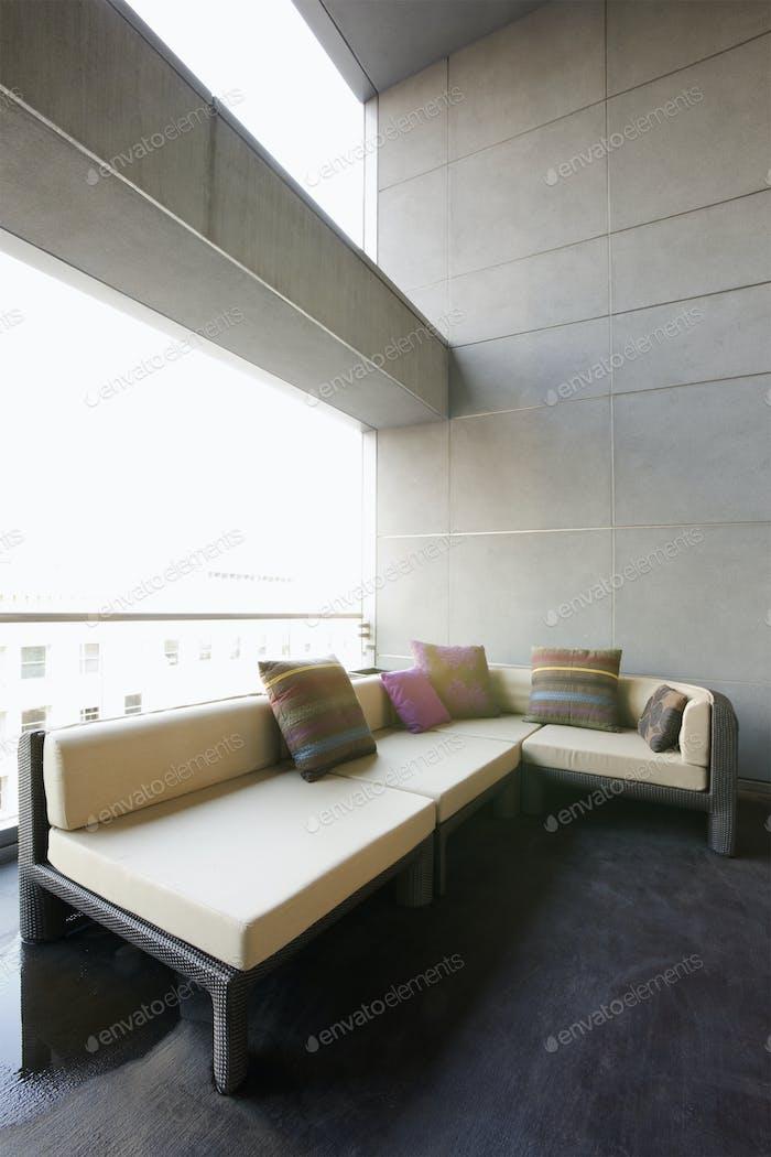 Sofa on luxury patio
