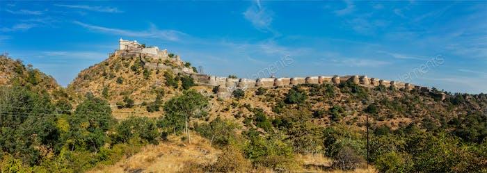 Panorama of Kumbhalgrh fort. Rajasthan, India
