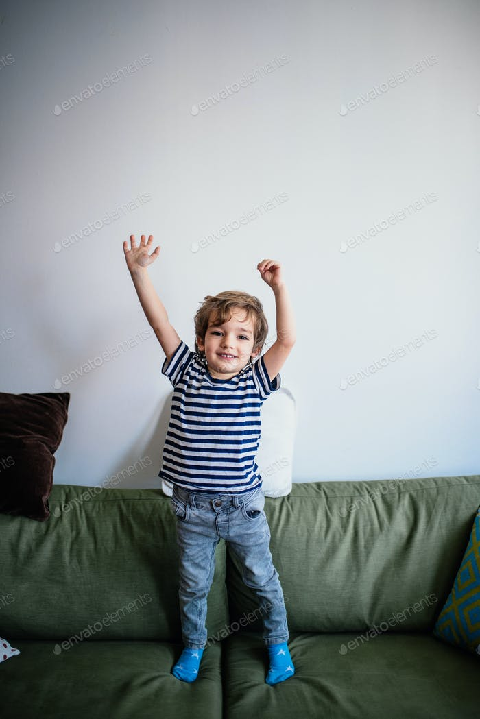 Little boy at home