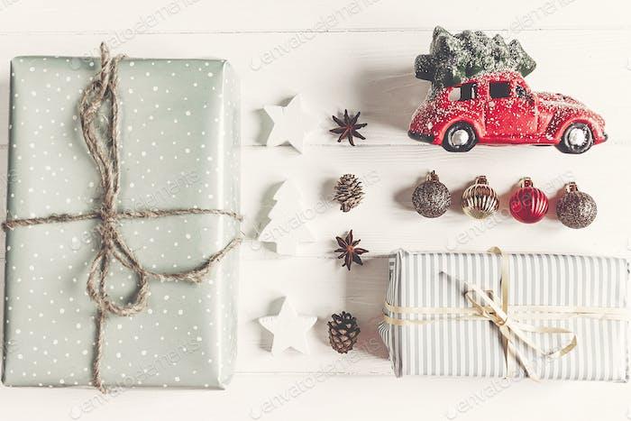 Stylish wrapped gifts