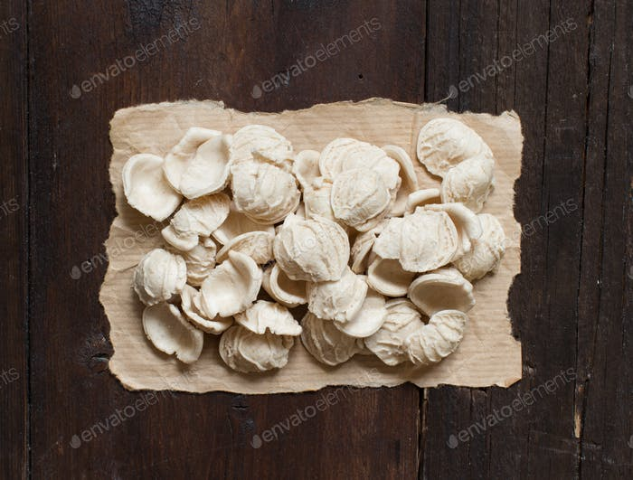 Fresh italian pasta orecchiette