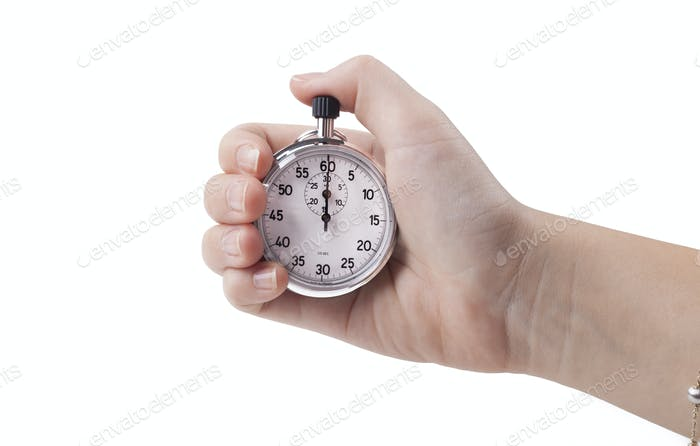 Holding Stopwatch