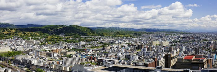 Aerial Japanese Cityscape