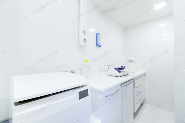 Sanitary room for professional dental tools disinfection