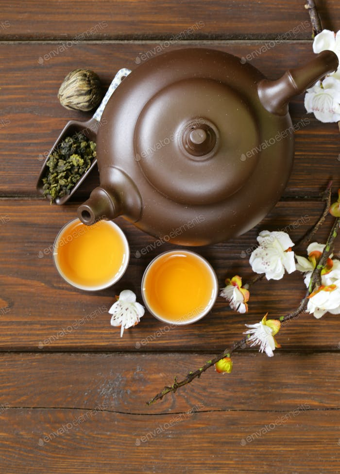 Tea Set, Top View