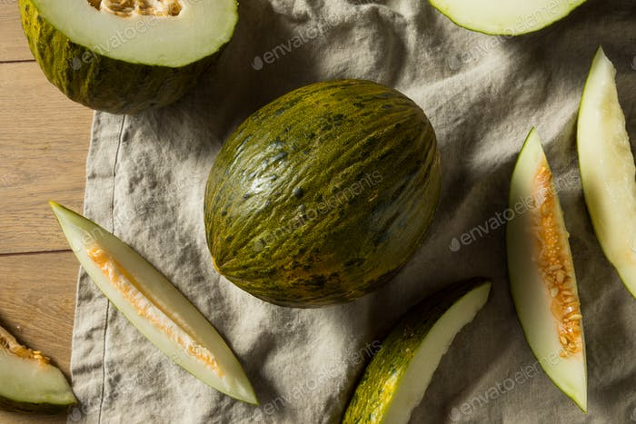 Raw Green Organic Santa Claus Melon