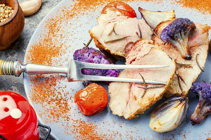 Italienische Schweinefleisch Porchetta