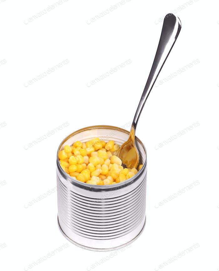 Canned sweet corn.
