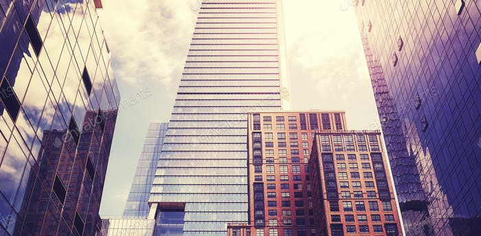 Manhattan modern architecture.