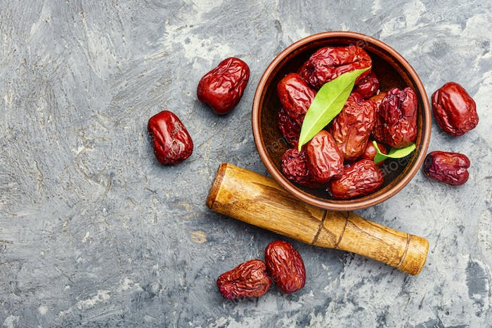 Dried unabi fruit or jujube