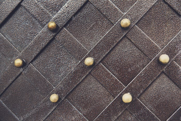Vintage metallic pattern. Decorative checkered elements